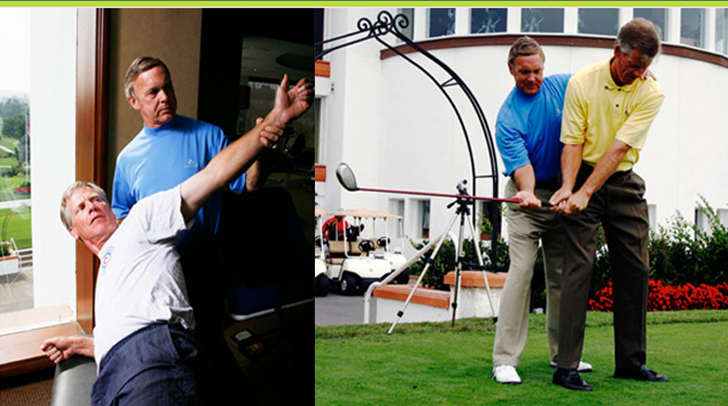 Roger helping with golf swing