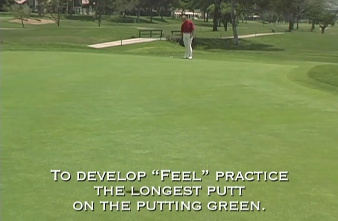 Develop FEEL on the Putting Green